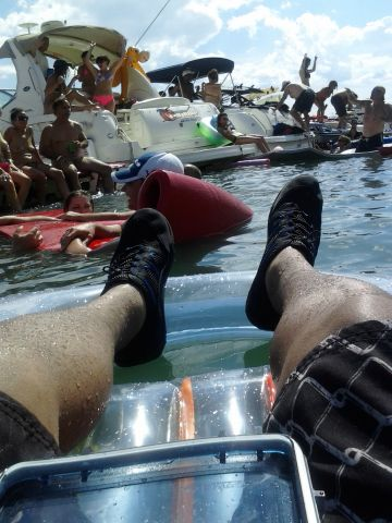 Raft up at the lake Texas Style!!
